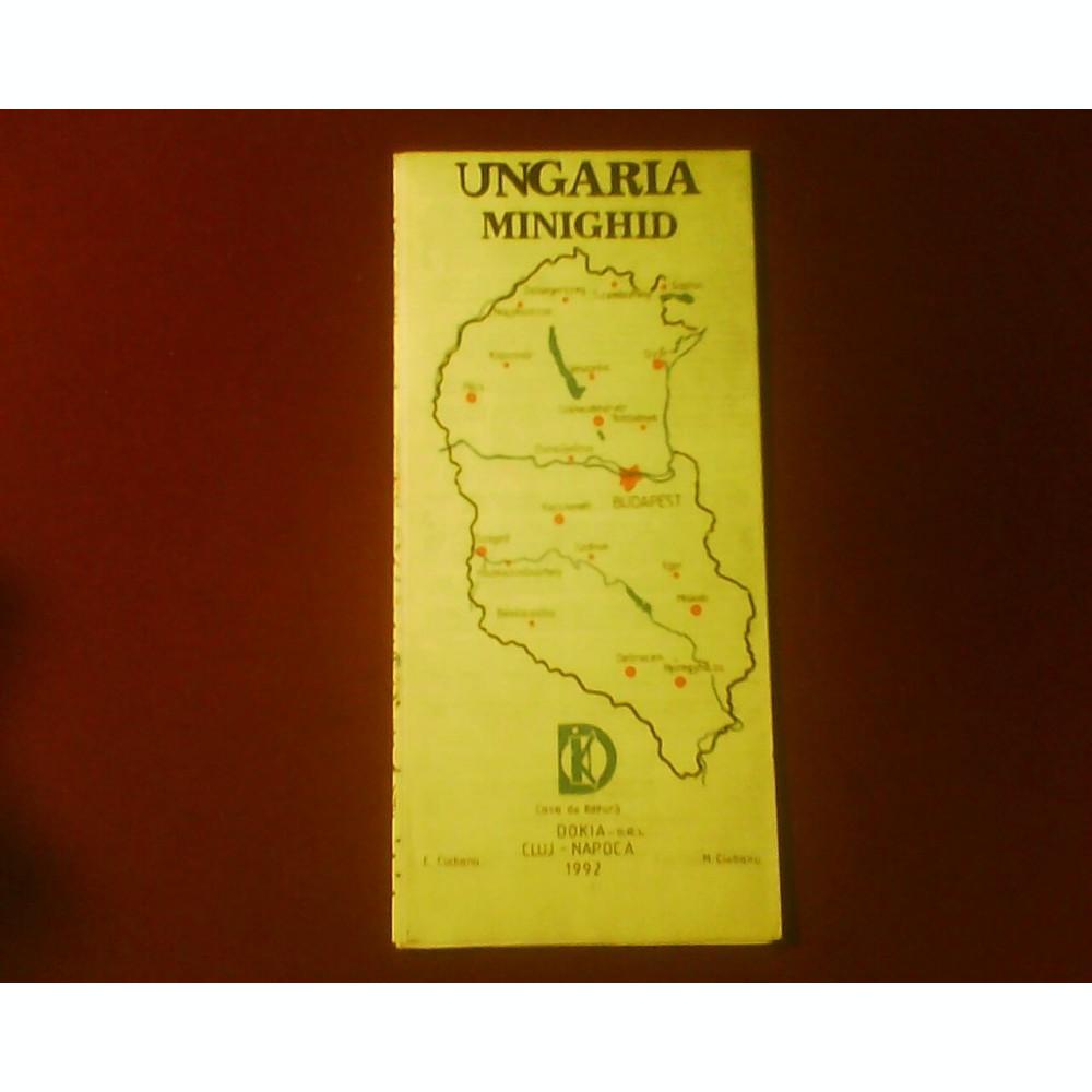 Ungaria Minighid Harta Turistica Si Rutiera Pentru Automobilisti