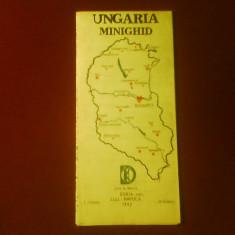 Ungaria minighid, harta turistica si rutiera pentru automobilisti