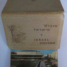 ALBUM ISRAEL SOUVENIR ANII 60 FORMAT DIN 13 CARTI POSTALE NECIRCULATE