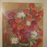 PVM - Tablou (1) mai vechi / flori / ulei pe carton / nesemnat si nedatat - Tablou autor neidentificat, Realism