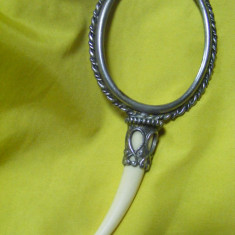 OGLINDA DE EPOCA, OGLINJOARA CU MANER FILDES fara oglinda, retro, antic - Arta din Sticla
