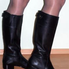 NOI, DE FIRMA _ Cizme dama, lungi, din piele, negre, CORSO COMO _ femei | nr. 40