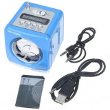 BOXA PORTABILA acumulator intern cu MP3 PLAYER slot stick usb card si RADIO FM