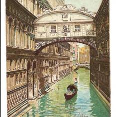 Italia, Venetia, podul Suspinelor, circulata, cca 1908, colorata, Europa, Printata