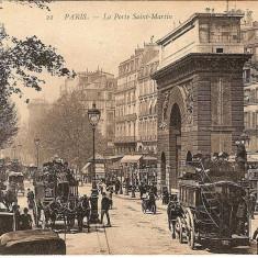 Franta, Paris, poarta Saint Martin, circulata, Europa, Fotografie