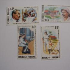 Togo 1975 Dr. Albert Schweitzer fauna mi 1118-1121 - Timbre straine