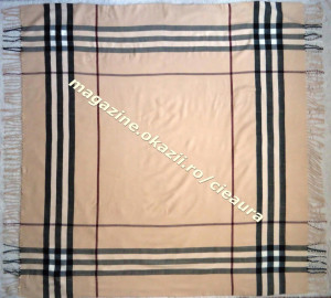 ESARFA BEJ DAMA FULAR PONCHO SAL 100% CASMIR 150x140 cm