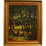 Pictura - tehnica ulei / panza (dimensiune 50x40 cm - fara rama) - Pictor roman, Altul, Realism