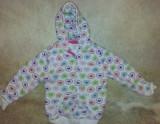 Cumpara ieftin SH: Bluza trening copii 24 luni, cu gluga, buzunare, fermuar, bumbac, ca noua