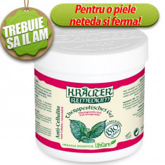 Gel anticelulitic cu menta BIO Krauter (250ml) - Remediu din plante
