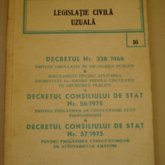 LEGISLATIE CIVILA UZUALA - 16 - Carte Legislatie