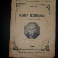IMM.Kant-Filozofia Crestinismului, 1912