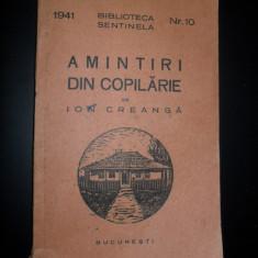 Amintiri din copilarie -Ion Creanga, 1941 - Carte educativa