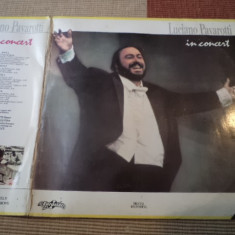 Luciano pavarotti in concert eurostar disc dublu vinyl 2 lp muzica clasica opera, VINIL