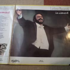 Luciano pavarotti in concert eurostar disc dublu 2 lp vinyl muzica clasica opera - Muzica Opera, VINIL