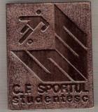 C194 Medalie Fotbal - C.F. SPORTUL STUDENTESC -FONDAT 1916 -marime circa  75X60 mm - aprox. 46 gr -starea care se vede