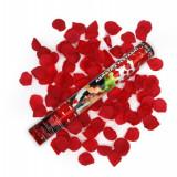 Tun confeti, confetti petale trandafiri rosii - Decoratiuni nunta