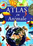 Atlas cu animale, dimensiuni mari 32x26 cm, 50 pagini color, nou