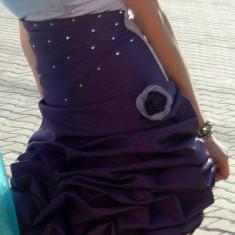 Rochita de bal superba - Rochie banchet SHE, Culoare: Mov, Marime: Marime universala, Mov, Marime universala, Scurta