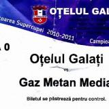 Bilet fotbal Otelul Galati - Gaz Metan Medias, tribuna zero, 4 nov 2012