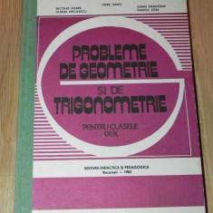 STERE IANUS, NICOLAE SOARE ... - PROBLEME DE GEOMETRIE SI TRIGONOMETRIE PENTRU CLASELE IX-X - Teste Bacalaureat