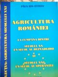 AGRICULTURA ROMANIEI LA CUMPANA DINTRE SECOLUL XX UN SECOL AL DEZNADEJDII