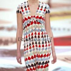 Rochie midi CACHAREL multicolora din matase noua cu eticheta S/ 36/ us2 pret retail peste 300euro - Rochie de zi Zara, Marime: S, Scurta