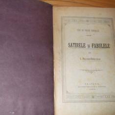 Curs de Poezie Generala  SATIRELE si FABULELE lui I. HELIADE-RADULESCU  - 1884