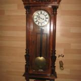Ceas Pendul Alt Deutsch Vienna Regulator 1890 Gustav Becker,lemn trandafir,115cm
