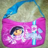 Posetuta cu Dora, de la Nickelodeon, din material, ca noua - Gentuta Copii
