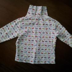 Bluza groasa de copii 2-3 ani, din bumbac, ca noua, Culoare: Alb