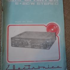 Amplificator model MT 3220 electronica 2x20 stereo carte tehnica instructii - Carti Electronica