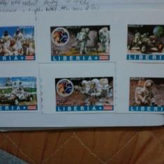 Liberia 1973 Apollo 17 serie MNH NEDANTELATA COTA RIDICATA - Timbre straine