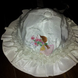Palariuta de la Baroni din bumbac fete 6-12 luni, brodata, deosebita, noua