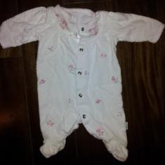 Body bebe 1 luna, alb, bumbac, ca nou