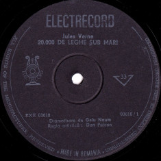 Jules Verne - 20.000 De Leghe Sub Mari (Vinyl) - Muzica pentru copii electrecord
