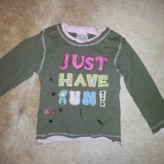 Bluza copii 9-10 luni, de la Wenice Baby, masura 74, bumbac, Culoare: Khaki