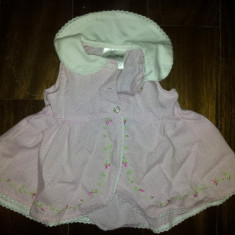Rochita roz fete 2-4 luni, de la ICZ, noua, bumbac si poliester