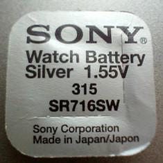 baterie ceas Sony, cu argint-315-SR716SW.