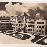 CP, fotografie aeriana, Cluj, Cladirea noua Comandamentul Corpului de Armata (Ungaria), Kolozsvar-Hadtestparancsnoksag, piesa RARA - Fotografie veche