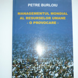 Carte Managementul Mondial al Resurselor Umane - P. Burloiu
