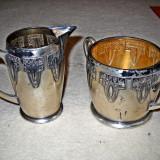 Set recipiente din alama pentru lapte si zahar cafea antichizate - Ceasca