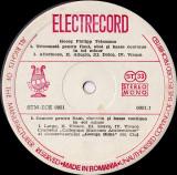 Georg Philipp Telemann / Collegium Musicum Academicum / George Dima - Triosonata Concert Flaut, Oboi, Clavecin, Basso Continuo (Vinyl), electrecord
