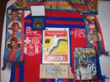 Set suvenir finala CUPA CAMPIONILOR 86, STEAUA - Barcelona (incl. bilet intrare, program meci, placheta, insigna, 4 fulare diferite, palarie, dvd)