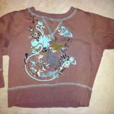Bluza groasa mov fete 2 ani, din bumbac, ca noua