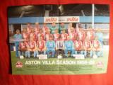 Miniafis - Aston Villa -cu semnaturi jucatori pe spate