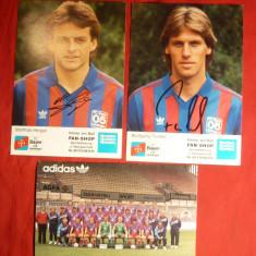 2 Fotografii cu Autograf 2 fotbalisti +1 cu Echipa - FC Bayer Uerdingen