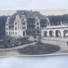 OCNA SIBIULUI-PARCUL CU HOTELUL 1931 - Carti Postale Romania dupa 1918, Circulata