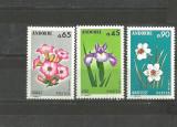 ANDORA 1974 - FLORI NARCISE, IRISI, TABAC - SERIE NESTAMPILATA LT130, Natura, Nestampilat