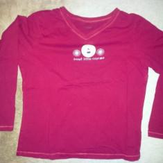 Tricou rosu de dama de la Joe Boxer, bumbac, masura M, usor folosit - Tricou dama, Marime: M, Maneca lunga